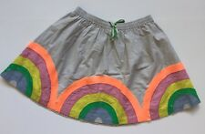 Mini Boden 11-12 Rainbow Twirly Skirt Girls Gray