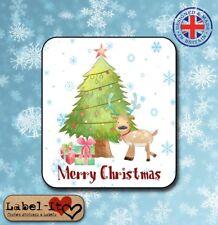 CH21 20x 40x35mm Santa Joyeux Noël Arbre de Noël présent autocollants/étiquettes/tags