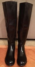 NEW WOMEN BED STU TALL HIGH KNEE BLACK RUSTIC LEATHER  BOOTS SIZE 9