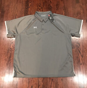 NWT$40 Mens Under Armour Rival Polo Gray 1306583 - Size 5XL
