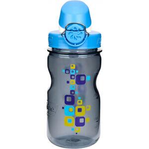 Nalgene Kids On the Fly Water Bottle - 12 oz.- Squares Clear/Blue
