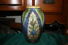 Antique Persian Islamic Middle Eastern Pottery Vase-Primitive Painted Colors