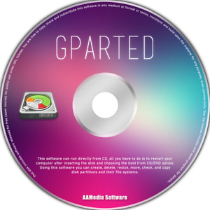 GParted - DISK MANAGER & PARTITION - BOOTABLE CD - 32 64BIT Multiplatform
