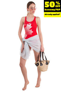 SPEEDO One Piece Swimsuit Size UK 12 / M Endurance 10 Printed Racerback