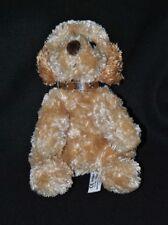 Peluche doudou chien LASCAR brun marron collier long poil 19 cm assis TTBE