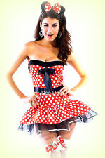 Sexy Minnie Mini Mickey Mouse Costume Fancy Dress Hen Night Party MM2