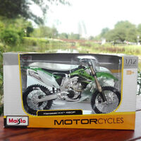 MAISTO Model 1/12 Scale Green Kawasaki KX 450F Diecast Motorcycle Racing Moto