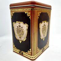 Rectangular Brown & Gold Ornate Decorative Collectible Tin J.C. Clark Mfg.