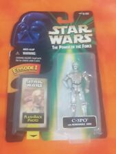 Star Wars POTF  C-3PO With REMOVABLE ARM / Flash Back Photo MOC