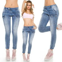 Mozzaar Women's X-Over Stretch Denim Jeans - XS/S/M/L/XL