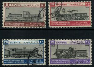 Egypt 1933 Railway Congress set of 4 used
