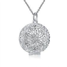 925 Silber Anhänger zum öffnen Medaillon Amulett Talisman Silber Glücksbringer
