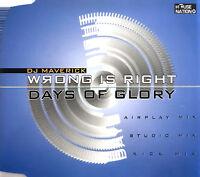 DJ Maverick Maxi CD Wrong Is Right - Germany (EX+/M)