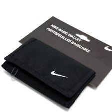 Nike Negro Básico Swoosh Billetera Tri-Fold Mans Mujer Unisex Cremallera Monedero