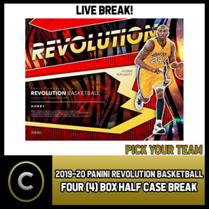 2019-20 PANINI REVOLUTION 4 BOX (HALF CASE) BREAK #B450 - PICK YOUR TEAM
