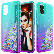 For Samsung Galaxy A51 A71 Shockproof Case Bling Glitter Hybrid Rubber Cover