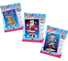 Sequin Art Christmas Bundle – Santa, Astrid & Ruby Reindeer