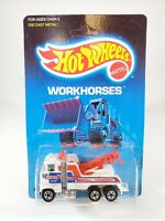 Hot Wheels 1988 Rig Wrecker Steve's Towing White Unpunched Card NOC w/ Protecto
