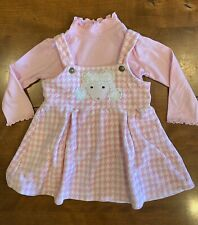 Girls Sweet Potatoes Size 24 Mo %100 Cotton  Poodle Dress 2 Pc Houndstooth Pink