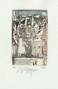 """Original Etching Playing Card """"Jidgment of Paris"""" by NOZDRIN YURY / Russia"""