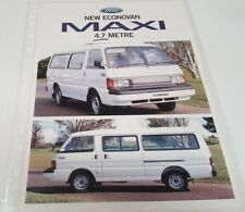 1997 FORD ECONOVAN MAXI  Sales Leaflets from New Zealand