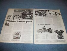 "1984 Harley-Davidson Softtail Vintage Article ""Technology Does its Best...."""