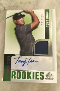 2021 SP Game Used Golf - Tony Finau Rookie Auto Shirt Card - Serial #247/299
