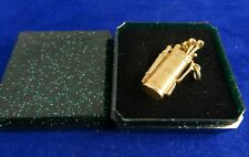 Vintage Solid 9ct Gold GOLFCLUBS CHARM Pendant Charm 4.7g 2.5cm 9d