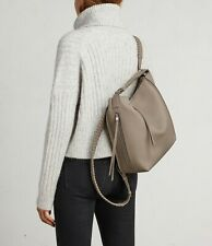 AllSaints Kita Small Backpack Bag in Taupe Grey (Leather/Womens/Tote/Handbag)