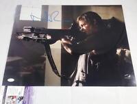 "NORMAN REEDUS ""DARYL DIXON"" SIGNED 16X20 METALLIC PHOTO THE WALKING DEAD JSA 556"