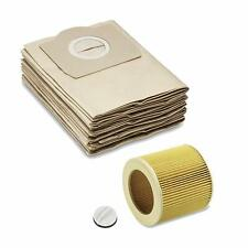 KARCHER WD2.200 WD3.500 Compatible Wet & Dry Vacuum Cleaner Hoover FILTER & BAGS