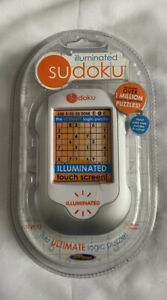 New Illuminated Sudoku Hand Held Logic Puzzle Electronic Video Game Techno NEW