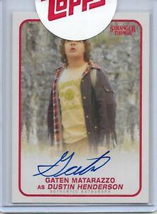 Stranger Things Season 1 Gaten Matarazzo (Dustin) Autograph Trading Card #A-DH