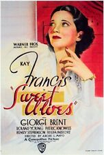 SWEET ALOES Movie POSTER 27x40 Kay Francis George Brent Roland Young Patric