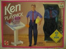 KEN MEN AT WORK BAMBOLA BARBIE MATTEL 1993 cod 67003 NEW SEALED BOX SIGILLATA