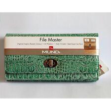 Mundi File Master Accordian Wallet in Aqua NWT
