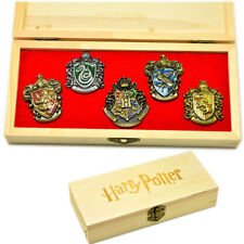 Harry Potter Hogwarts House Metal Pin Badge In Box Set of 5pcs Childs Xmas Gifts