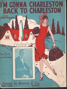 I'm Gonna Charleston Back To Charleston 1925 Courtney Sisters Sheet Music