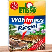 Etisso Wühlmaus Riegel 18 x 10 g gegen Wühlmausgift Wühlmäuse Köder