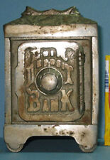 AUTHENTIC OLD COIN DEPOSIT BANK TOY SAFE, HORSE HEADS ORNATE ***ON SALE*** CI522