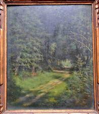 Paysage Forêt Arbres Belle Touche*1929 Monogramme à identifier