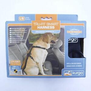 Kurgo Tru-Fit Enhanced Smart Harness & Seatbelt Tether LARGE 50-80 lbs Black
