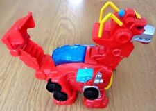 Transformers Rescue Dino Bot Heatwave Figure with Voice & Sound FX Playskool
