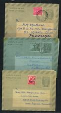 India REFUGEE RELIEF  3 Different Inland Letters Used
