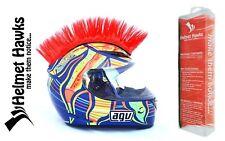 Helmet Hawks ™ Mohawk Candy Red Motorcycle Bike BMX Helmet Mohawks