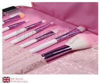 8 PCS Cosmetic Stipple Powder Blush Pink Make up Brush Set + Case UK
