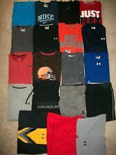 Lot 19 Men L Large Athletic Under Armour Nike Shorts Sweats Tees 930