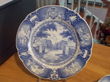 Wedgwood UNITED STATES NAVAL ACADEMY BLUE Old Main Gate 1869-1932 Plate