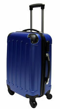Blk Blue Pink Silver Hard Shell 4Wheel Spinner Suitcase Luggage Trolley Case Bag