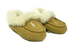 Ralph Lauren Boys Shoes Size 5 Tan Suede Slippers Girls Polo New